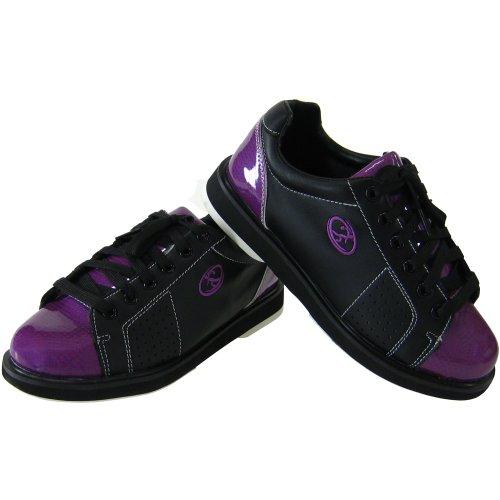 Elite Athena Schwarz Lila Bowling Schuhe - Damen