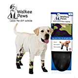 Walkee Paws Waterproof Dog Leggings - Keep Your Dog's' Clean & Dry Without The Hassle of Boots - Camouflage (Large)