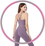 Aioweika weighted hoola hoop, be used by Adults and Kids, 8 Sections Adjustable Detachable Design, 85cm 33in 2