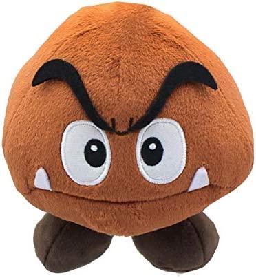 """Little Buddy Super Mario All Star Collection 1427 Goomba Stuffed Plush, 5"""", Multi-Colored"""