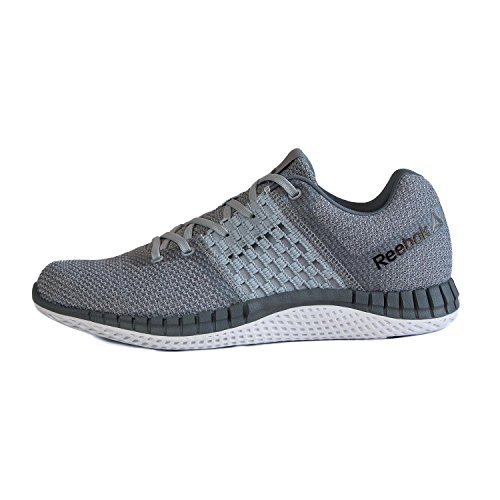 Zapatillas De Running Reebok Hombres Zprint Run Ultraknit, Cloud Grey / Asteroid Dust / White / Pewter / Black 9.5 / Us