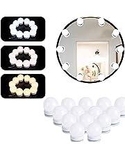 IWILCS LED Spiegelverlichting, make-uplicht met 14 dimbare lampen 3 kleurmodi, kaptafelverlichting voor kleedkamertafel badkamer slaapkamer lange spiegel