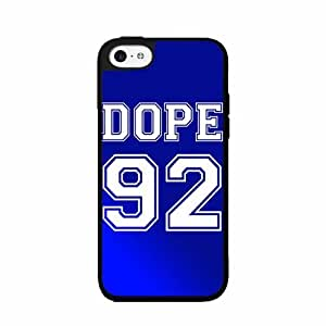 Dope 92 Blue Jersey- Plastic Phone Case Back Cover iPhone 5c