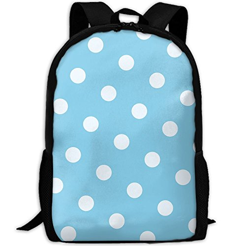 Markui Adult Travel Hiking Laptop Backpack White Point Blue Background School Multipurpose Durable Daypacks Zipper Bags Fashion by Markui (Image #1)