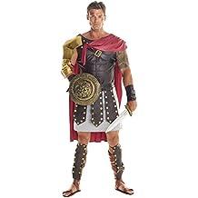 Mens Roman Gladiator Costume Empire Centurion Uniform Spartan Soldier Outfit