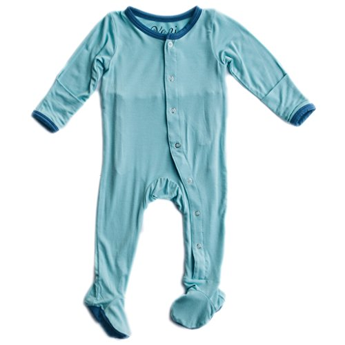 Kozi & Co - Solid Collection - Bamboo Footies - Light Blue - 18-24 Month