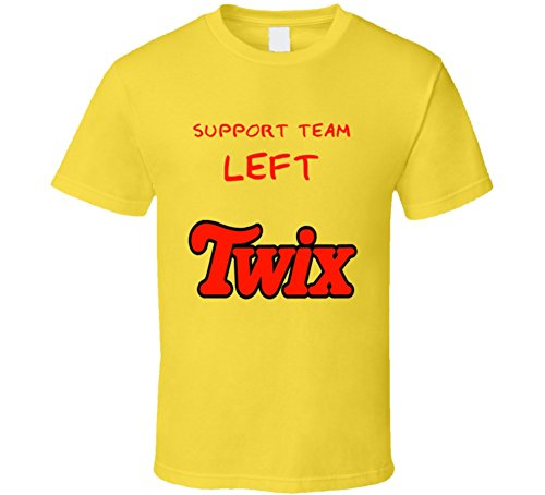 Support Team Left Twix Funny Chocolate Ads T Shirt L Daisy -