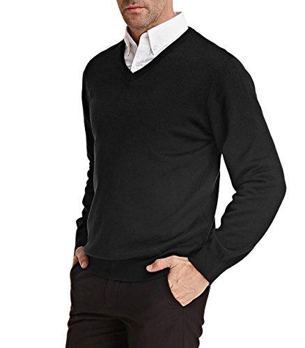PAUL JONES Men's Solid Comfortable Faric Pullover Fashion Look Size XXL Black ()