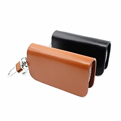 Zipper Entry - To Design Auto Keyless Key black Keylessoption New Wallet Fob Bag Replacement Zipper Entry Cover Case Genuine Shell Holder Remote Your Smart Button Chain Leather Car Keychain