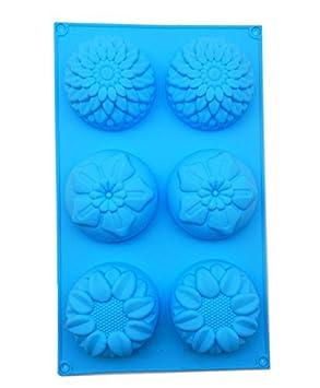 jelacy molde de varios flor forma jabón DIY molde de silicona para ...