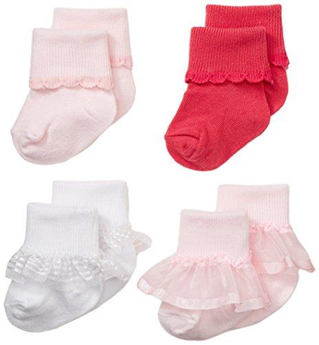 Nuby Infant Newborn 4 Pack Ruffle