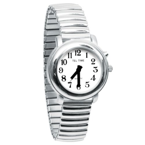 Ladies One Button Talking Watch- Chrome Expansion by MaxiAids