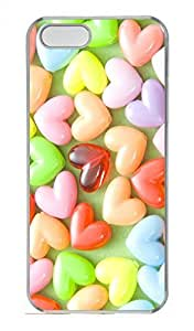 Colorful Candies Customized Popular DIY Hard Back Case Cover For iPhone 5 5S Hard Transparent