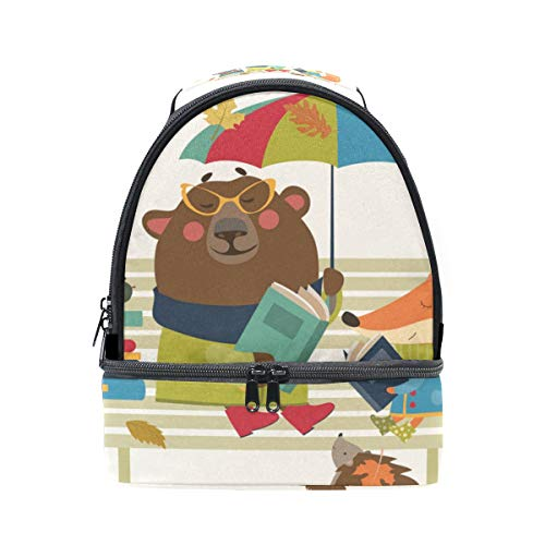regolabile Lunch School Orso Pincnic The Alinlo per Design With Cartoon spalle Strap Bag FfOwBqwx0