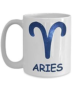 Zodiac Aries Mug Birthday Gift for Women or Men