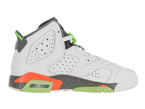 Nike White / Ghst Green-Hst-Brght Mng, Zapatillas De Baloncesto para Niños Blanco (White / Ghst Green-Hst-Brght Mng)