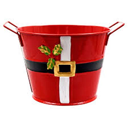 Christmas Tin Bucket