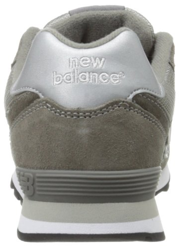 New Balance KL574 Grade Running Shoe (Big Kid) Grey/Silver