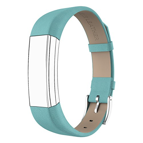 Fitbit Alta HR and Alta Bands Leather, Swees Genuine Leather Band With Buckle Replacement Wristband Small & Large for Fitbit Alta HR and Alta, Black
