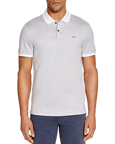 Micro Stripe Slim Fit Polo Shirt (Off-White, L) - Micro Stripe Polo