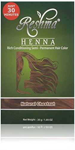 Reshma Beauty Natural Chestnut 30 Minute Henna Hair Color ()