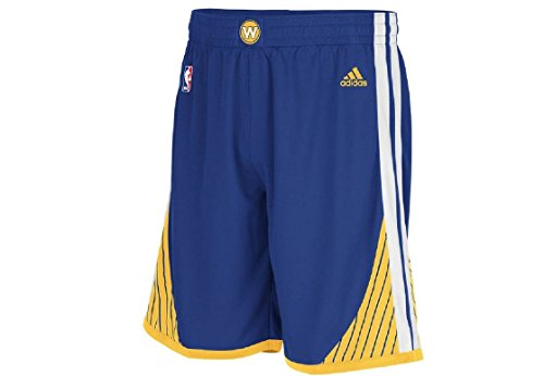 Golden State Warriors Blue Embroidered Swingman Shorts By Adidas - Adidas Swingman Shorts