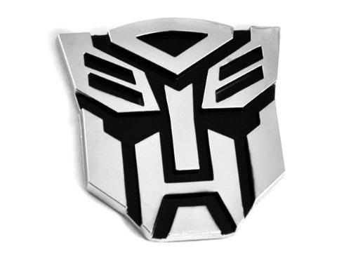 Transformers Autobot Pegatina 3d, cromado, para coche, tamañ o grande Tinkerbell Trinkets®