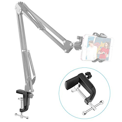 Neewer Heavy-duty Metal Table Mounting Clamp for Microphone Suspension Boom Scissor Arm Stand Holder with an Adjustable Positioning Screw, Fits up to 1.77Inches/ 4.5Centimeter Desktop Thickness-Black