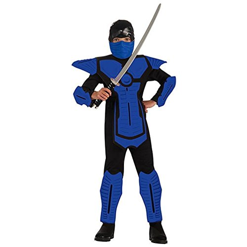 Child's Blue Ninja Costume, Large]()