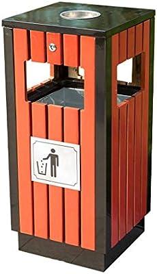 Papelera Rectangular Grande del Metal para al Aire Libre/jardín/Escuela/Calle, Cubo de Basura de la Capacidad Grande con el Cubo Interno del Acero Inoxidable (tamaño : 85cm): Amazon.es: Hogar