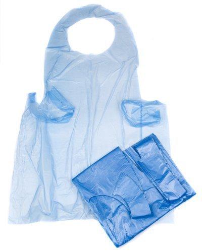 100 Blue Disposable Polythene Aprons, 26 x 40 by Bag It Plastics