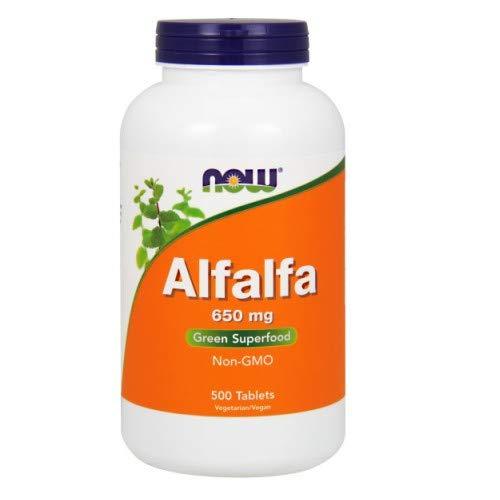 Now Foods Alfalfa 650 mg - 500 Tabs 3 Pack