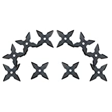 Halloween Ninja Rubber Throwing Star - Kazaguruma Shuriken - 10pc Set
