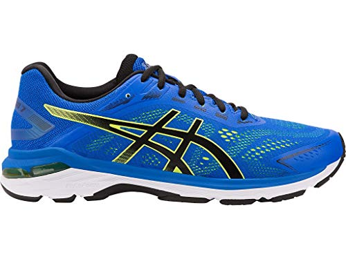 ASICS Men's GT-2000 7 Running Shoes, 12.5M, Illusion Blue/Black (Supinator Running Shoes)