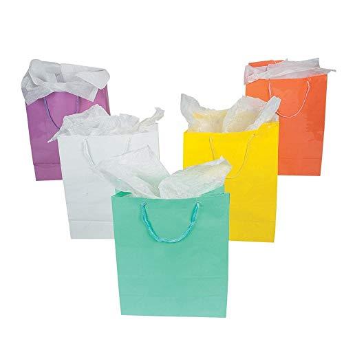 Fun Express Large Pastel Gift Bags (1 dz)