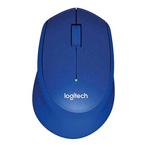 Logitech M330 Silent Plus Wireless Mouse, 2.4 GHz with USB Nano Receiver, 1000 DPI Optical Tracking, 3 Buttons, 24 Month Life Battery, PC / Mac / Laptop / Chromebook - Blue