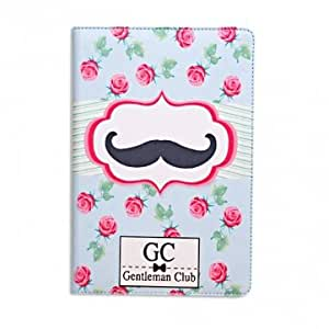 Cheap Lovely Beard Pattern Leather Case Cover For iPad Mini --- Design:SAY