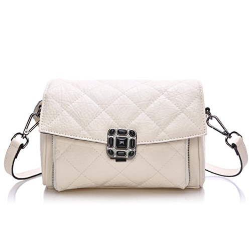 Choco Mocha New Office Lady Luxury Fashion Crocodile Tote Top Handle Cross Body Shoulder Satchel Purse Women's Handbag White Gsdl1551-w
