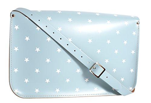 Oxbridge Satchel's - Bolso estilo cartera para mujer azul mediano