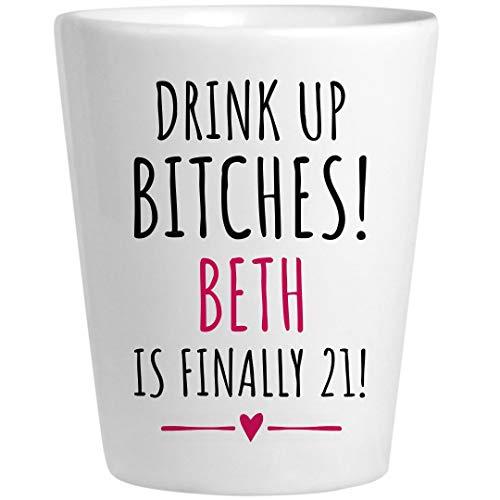 Beth 21st Birthday Gift: Ceramic Shot Glass