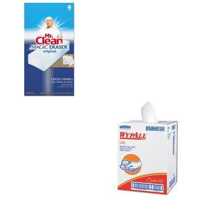 KITKIM05860PAG82027 - Value Kit - Wypall 05860 Professional Towels (KIM05860) and Mr. Clean Magic Eraser Foam Pad (PAG82027)