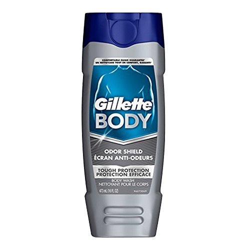 Gillette Bodywash Odor Shield 16 Hour, 16OZ Pack of 6