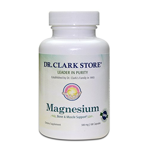 Dr. Clark Magnesium Oxide Supplement, 300mg, 100 c…