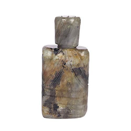 Incense Mini Fragrance - Natural Labradorite Gemstone Incense Box 262.00 Ct Handmade Incense Mini Box for Fragrance or Perfume
