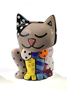 Romero Britto Cat Design Salt and Pepper Shaker