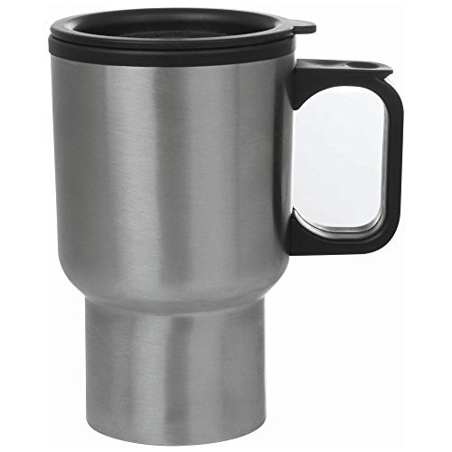 Interior Travel Mug - Maxam KTMUGPL Stainless Steel Travel Mug, 14-Ounce