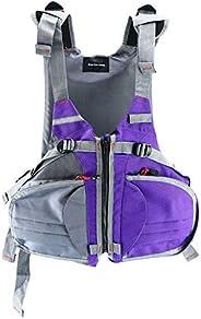 Kayak Life Jacket Vest for Women Boat Buoyancy Aid Sailing Fishing Multi-Pockets