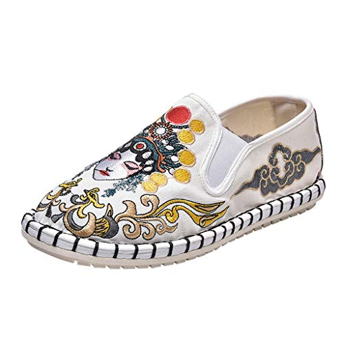Embroidered Flats Shoes,ONLY TOP Women's Chinese Embroidery Comfortable Lofers Slip On Comfortable Driving Shoes
