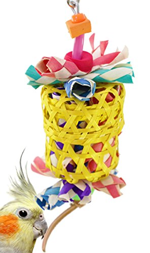 Bonka Bird Toys 1515 Small Drum Cage Toys Cages Foraging Chew Shredder Conure. Quality Product Hand Made in The USA. (Drum Bird Toy)