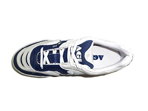 AGLA - Zapatillas de fútbol sala para hombre Media White/navy
